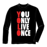 YOLO Black T-Shirt - Sample product